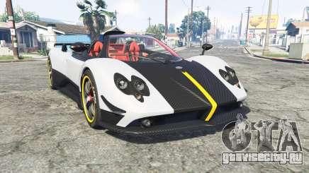 Pagani Zonda Cinque roadster 2009 [replace] для GTA 5