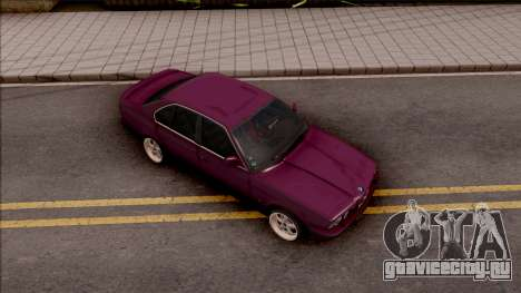 BMW E34 520i Sedan Stance Version для GTA San Andreas вид справа