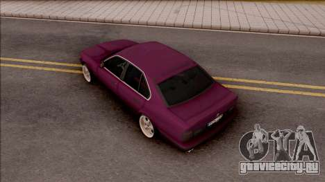 BMW E34 520i Sedan Stance Version для GTA San Andreas вид сзади