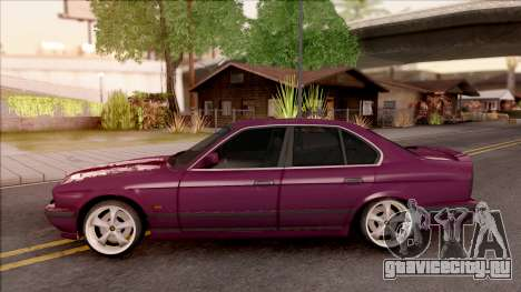 BMW E34 520i Sedan Stance Version для GTA San Andreas вид слева