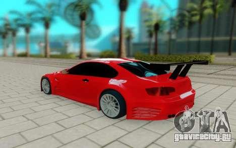 BMW M3 GTS для GTA San Andreas вид сзади слева