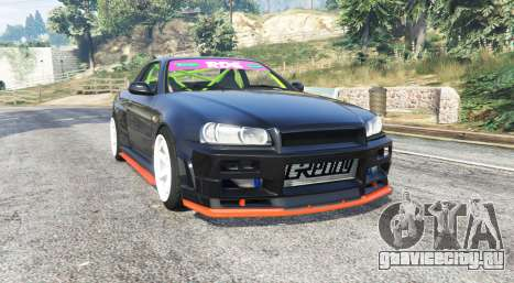 Nissan Skyline (R34) 2002 [replace] для GTA 5