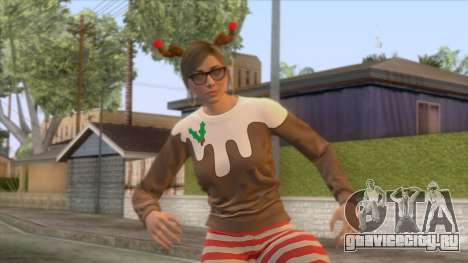 Festive Surprise DLC Female Skin для GTA San Andreas