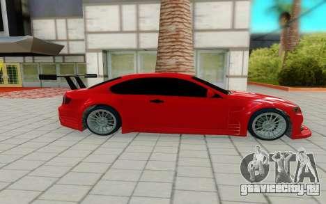 BMW M3 GTS для GTA San Andreas вид слева