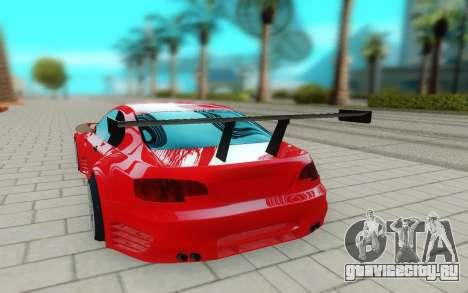 BMW M3 GTS для GTA San Andreas вид сзади