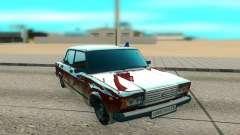 ВАЗ 2107 бордовый для GTA San Andreas