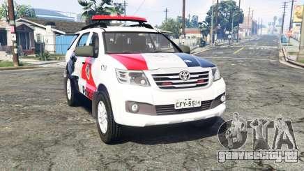 Toyota Fortuner 2014 brazilian police [replace] для GTA 5