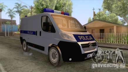 Citroen Jumper Polskiej Policji для GTA San Andreas