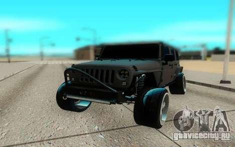 Jeep Rubicon 2012 V3 для GTA San Andreas вид сзади