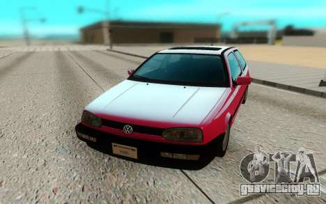 Volkswagen Golf Mk3 для GTA San Andreas вид сзади