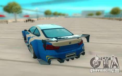 BMW M4 для GTA San Andreas вид сзади