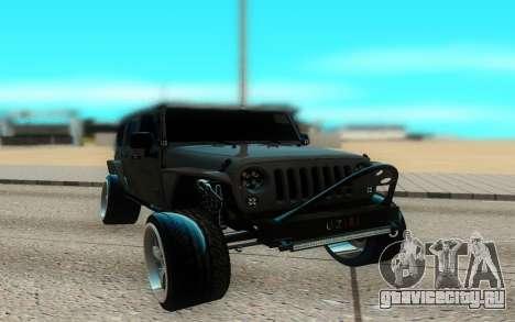 Jeep Rubicon 2012 V3 для GTA San Andreas