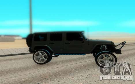 Jeep Rubicon 2012 V3 для GTA San Andreas вид слева