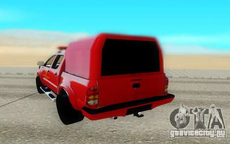 Toyota Hilux для GTA San Andreas вид сзади слева