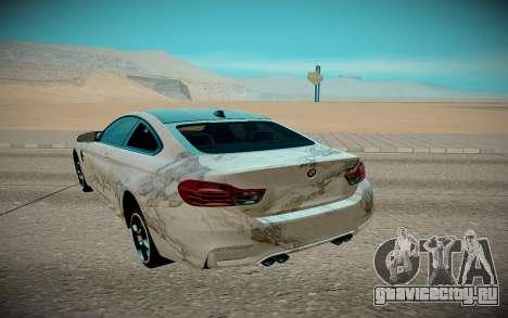 BMW M4 TR для GTA San Andreas вид сзади