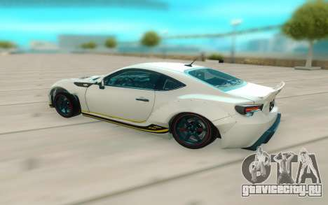 Toyota GT86 RB Ft Rotiform Permaisuri для GTA San Andreas вид сзади слева