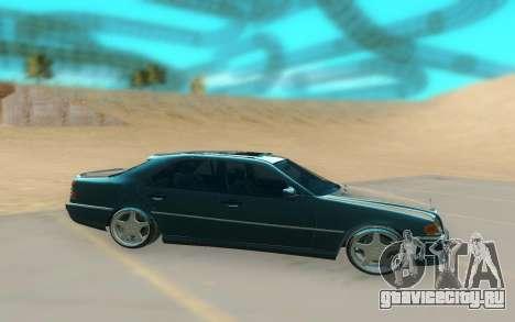 Mercedes Benz W202 Black Bandit для GTA San Andreas вид сзади слева