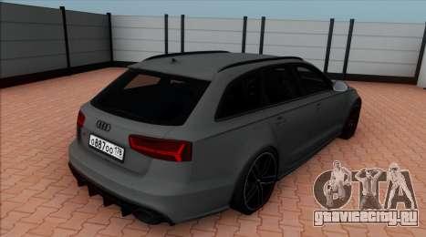 Audi RS6 Avant C7 Bulkin для GTA San Andreas вид слева