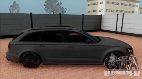 Audi RS6 Avant C7 Bulkin для GTA San Andreas вид сзади слева