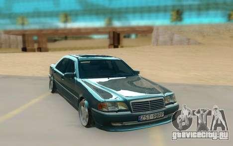 Mercedes Benz W202 Black Bandit для GTA San Andreas вид справа