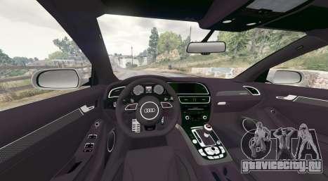 Audi RS 4 Avant (B8) 2014 v1.1 [replace] для GTA 5 вид сзади справа