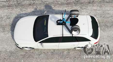 Audi RS 4 Avant (B8) 2014 v1.1 [replace] для GTA 5 вид сзади