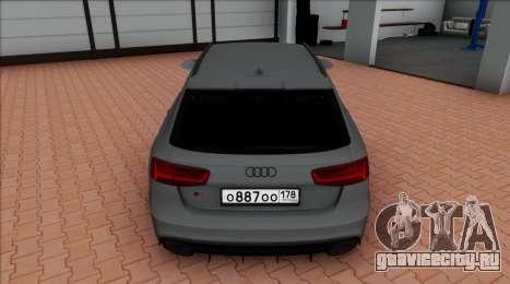 Audi RS6 Avant C7 Bulkin для GTA San Andreas вид справа