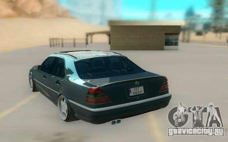 Mercedes Benz W202 Black Bandit для GTA San Andreas вид сзади