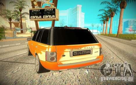 Range Rover Sport для GTA San Andreas