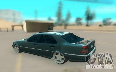 Mercedes Benz W202 Black Bandit для GTA San Andreas вид слева