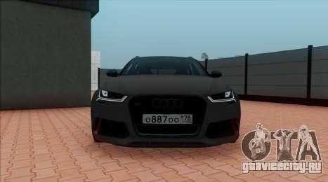 Audi RS6 Avant C7 Bulkin для GTA San Andreas вид сзади