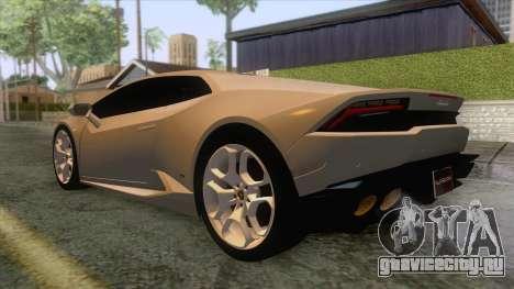 Lamborghini Huracan для GTA San Andreas вид справа