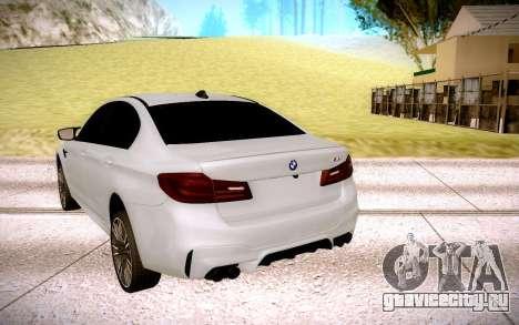 BMW M5 F90 для GTA San Andreas вид сзади слева