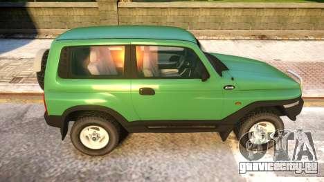 1999 Daewoo Korando TD для GTA 4 вид сзади