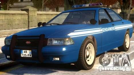 Vapid Stanier Gendarmerie National для GTA 4
