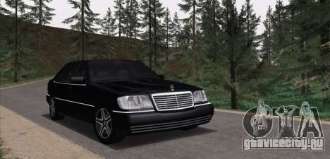 Mercedes-Benz S600 W140 для GTA San Andreas вид изнутри