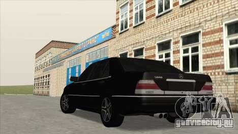 Mercedes-Benz S600 W140 для GTA San Andreas вид слева