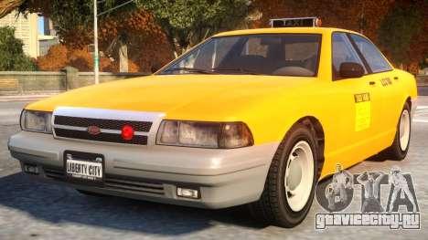 Vapid Stanier 2th gen Taxi для GTA 4