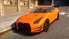 Fast And Furious Nissan GTR для GTA 4