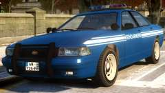 Vapid Stanier Gendarmerie National для GTA 4
