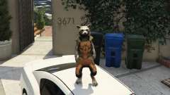 Rocket Raccoon from Guardians of the Galaxy для GTA 5