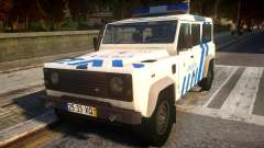 Land Rover Defender Police для GTA 4