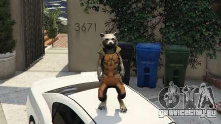 Rocket Raccoon from Guardians of the Galaxy для GTA 5