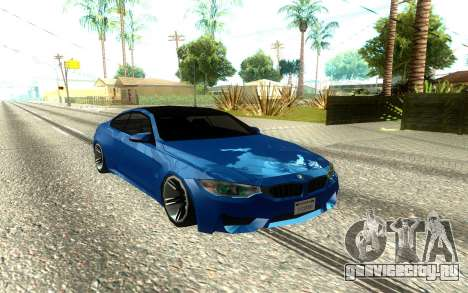 BMW M4 F82 2014 Low Poly для GTA San Andreas