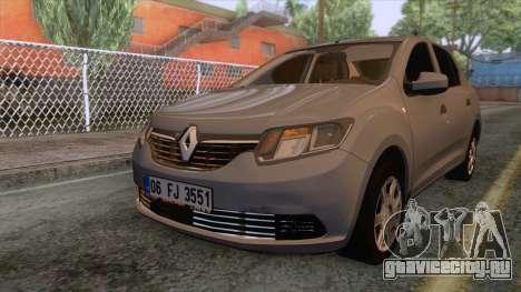 Renault Symbol 2013 Joy для GTA San Andreas