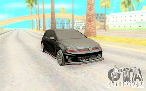 Volkswagen Golf 7 Black для GTA San Andreas