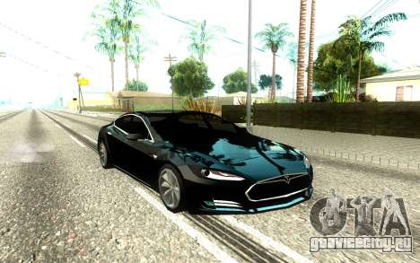 Tesla Model S Low Poly для GTA San Andreas