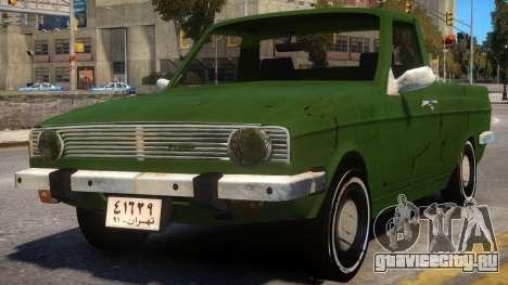Peykan Pick Up Old для GTA 4