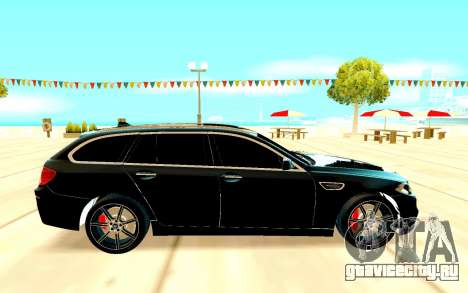 BMW M5 F11 для GTA San Andreas вид сзади слева