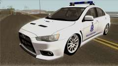 Mitsubishi Lancer Evolution X Malaysia Auxiliary для GTA San Andreas